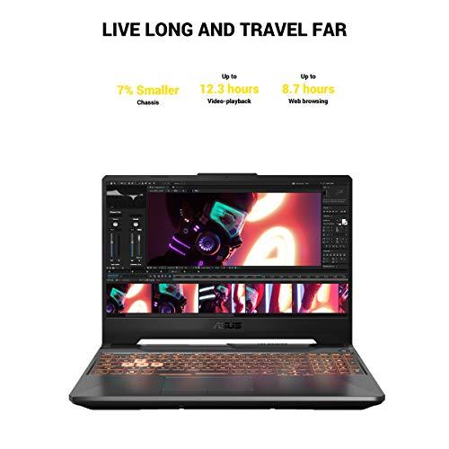 """ASUS TUF Gaming A15 Gaming Laptop, 15.6"""" 144Hz FHD IPS-Type, AMD Ryzen 7 4800H, GeForce GTX 1660 Ti, 16GB DDR4, 512GB PCIe SSD, Gigabit Wi-Fi 5, Windows 10 Home, Metal, TUF506IU-ES74"""