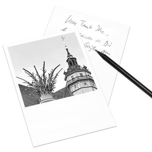COGNOSCO Postkarte Leipzig im Polaroid-Look - Motiv: Nikolaikirche