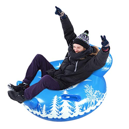 SUNSHINEMALL Snow Tube - 45 Inch Inflatable Snow Sled Snow Toys Sofa Shape for Kids and Adults Heavy Duty Inflatable Snow Tube Winter Outdoor Toys for Kids and AdultsProduct Name(52inch)