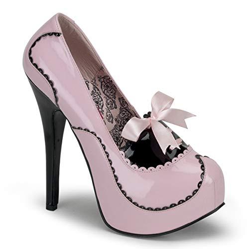 Bordello Teeze-01 Damen Pumps, Pink (B. pink-blk pat), EU 38 (UK 5) (US 8)