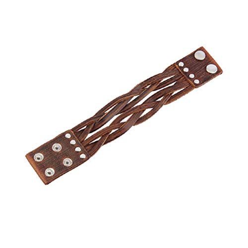 SUPVOX Pulsera trenzada de cuero ancha de la vendimia Cinturón ajustable Abrigo...