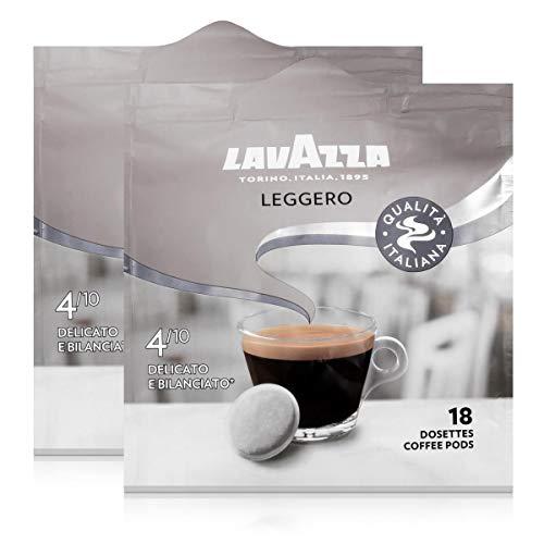 Lavazza Kaffeepads Leggero 18 Pads - Für Kaffee-Padmaschinen 125g Röstkaffee (2er Pack)