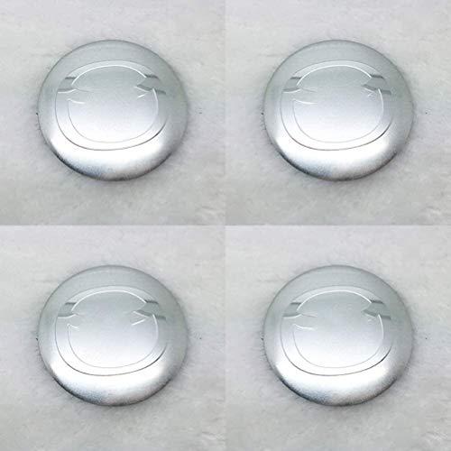 Cubierta de la insignia del eje del centro de la rueda de coche 4pcs, casquillo de aluminio del eje de la rueda del logotipoAccesorios de decoración de modelado de 60 mmpara Mazda todos los modelos