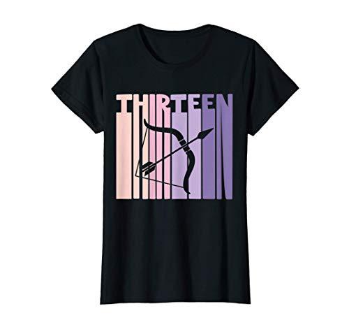 13 cumpleaños signo zodiacal sagitario Retro 13 años Camiseta