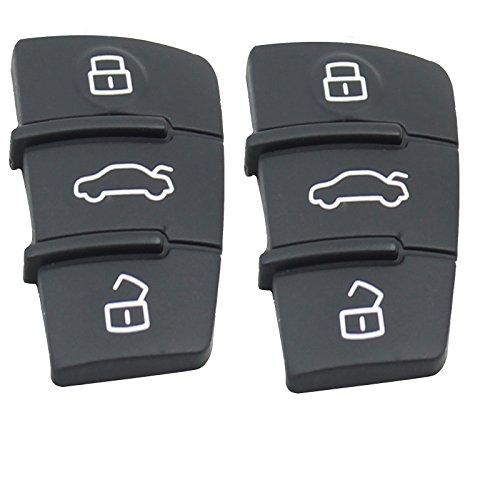 Heart Horse Porte-clés à Distance en Caoutchouc à 3 Boutons Compatible avec A3 A4 A5 A6 A8 Q5 Q7 TT S Line RS