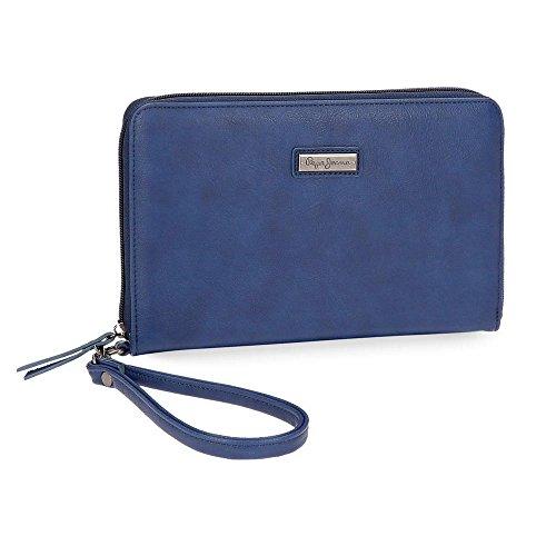 Pepe Jeans Croc Portadocumentos Azul 23x15x2,5 cms Piel Sintética