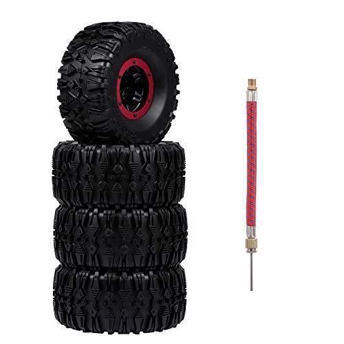 Goolsky 135mm 2,2 Zoll Felge Gummi Aufblasbare Reifen Reifen Rad für RC Auto Traxxas HSP Redcat RC4WD Tamiya Axial SCX10 D90 HPI RC Rock Crawler 4 stücke