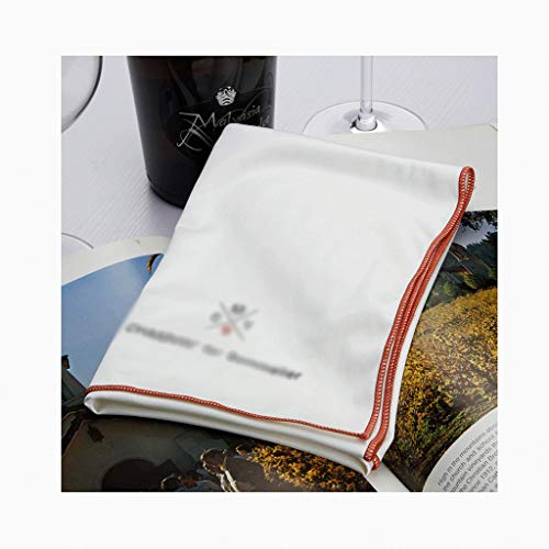 NYKK Stoffservietten Stoffserviette Nanofaser-Cup Tuch ist die perfekte Serviette, geeignet for Familien-Abendessen und Familien.Weiß Bequeme Wiederverwendbare Servietten