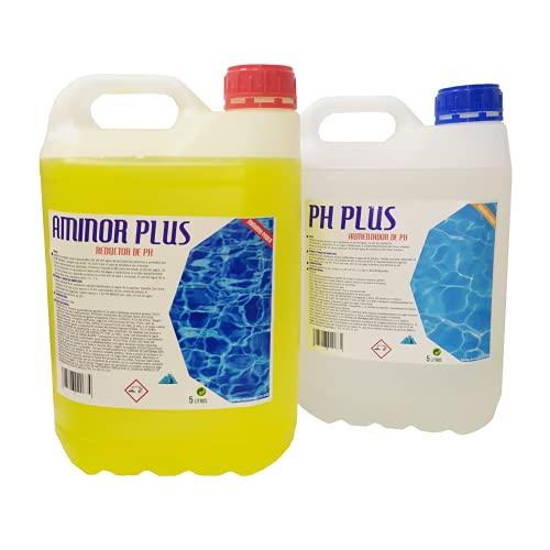 Eya Kit Aminor Incrementador Aumentador de pH Liquido y Aminor Plus Reductor de PH 5 litros
