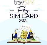 travSIM - Tarjeta SIM Prepaga Turca (SIM de Datos para Turquía) - 7GB de Datos Móviles para Usar...