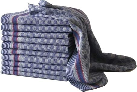 Arle-Living Premium Grubentücher 45x90 cm blau 100% Baumwolle Halbzwirn Gastronomie/Haushalt (blau, 10)