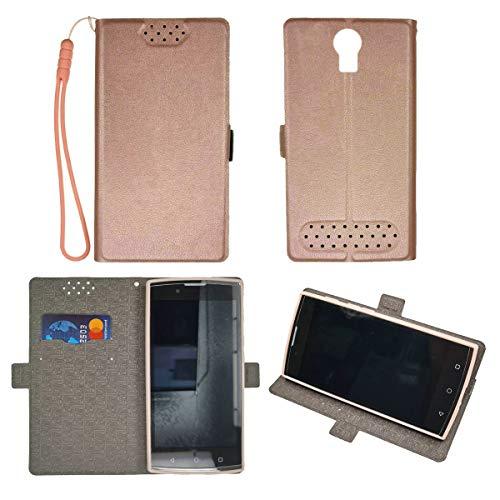 Oujietong Case for Unimax UMX U693CL Assurancewireless Case TPU Flip Cover Stand Shell Pink