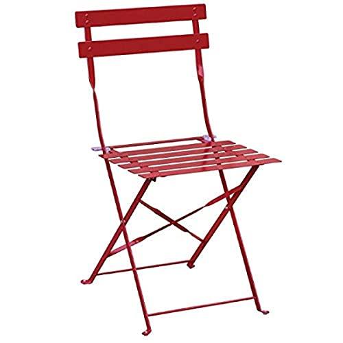 Bolero klappbare Terrassenstühle Stahl rot