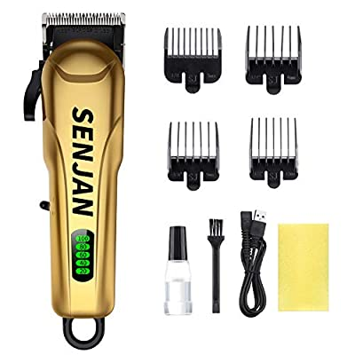 Hair Clippers for Men, MIGICSHOW Cordless Hair Clipper Waterproof Beard Trimmer Hair Trimmer Set Grooming Kit Electric Hair Cutting for Men & Women with Storage Dock & LCD Display