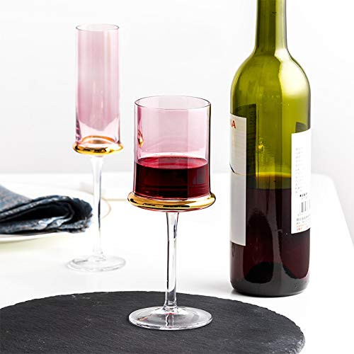 TSP Accesorios de vino nórdico de lujo Copa de vino tinto galvanizada Gold Cáliz Champagne Copas Bar Hotel Party Water Cup Vasos vasos vasos (Color: Gris 480 ml)