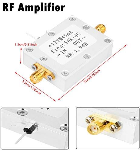 HF Verstärker,RF Amplifier 50K-4G Low Noise Hochleistungs HF Verstärker mit 25 dB @ 0,8 G Hochleistungs Ebenheit HF-Verstärker mit hoher Verstärkung und Ebenheit(CNC-Gehäuse)