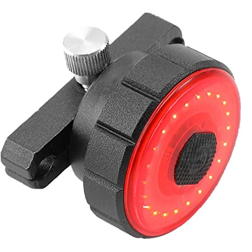 Posterior de la Bici llevó la luz de Flash USB Recargable con Luces traseras de Advertencia 7 Modos de Freno Que detecta Soporte de Montaje de Seguridad de la lámpara