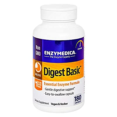 Enzymedica, Digest Basic, 180 Capsules, Dietary Supplement to Support Digestive Relief, Vegan, Non-GMO, 180 Servings