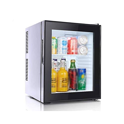 SYLOZ Compacta de una Puerta de refrigerador, Mesa Nevera for Bebidas de bajo Ruido 220V Hotel Frigorífico 6 ° -18 ° C Negro (Color : Negro)