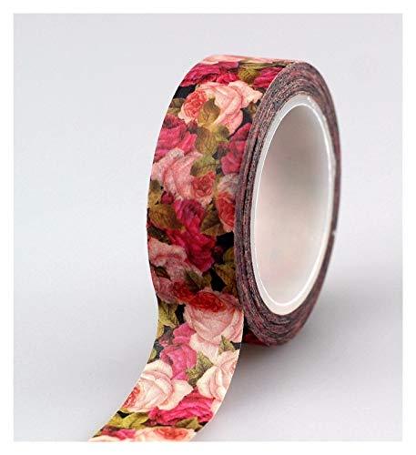 Bricolaje creativo 10pcs flores washi cinta DIY DECO Scrapbooking planificador de enmascarar cinta adhesiva Papelería de cinta para cinta decorativa (Color : As show)