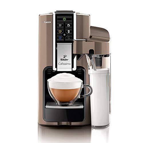 Tchibo Kaffeekapselmaschine Saeco Cafissimo LATTE, Titanio