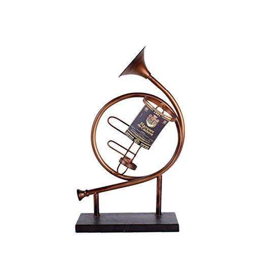 SUNBOR Weinregal Metall Horn Musikinstrument Kunsthandwerk Esszimmer Wohnzimmer Bar Innen Dekorationen