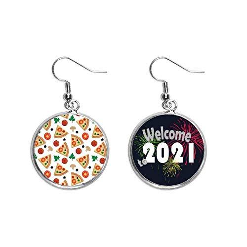 Joyería pendiente de la joyería 2021 de la bendición de los alimentos del tomate de la pizza de la seta