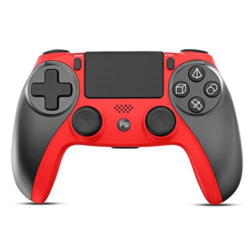 CHEREEKI Mando para PS4, Mando Inalámbrico Compatible con PS4/PS4 Slim/PS4 Pro/PC,Wireless Bluetooth Gamepad Joystick con Vibración Dualshock/ Seis Ejes/Panel Táctil /Puerto de Audio/Indicador LED