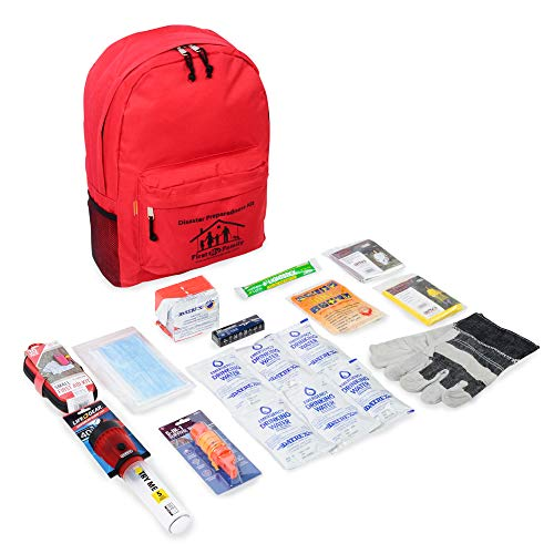 First My Family All-in-One 1 Person, 72 Hour Bug Out Bag Emergency Survival Kit for Family. Be Prepared for Hurricanes, Floods, Tsunami, Other Disasters
