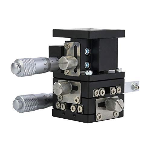 LD40-LM 3 Achsen 40x40mm XYZ Lineartisch, Schiebetisch Manuelle Verstellplattform Objektträger für Mikroskop, Transporter, Prozessmaschine, Medizintechnik, Druckmaschine