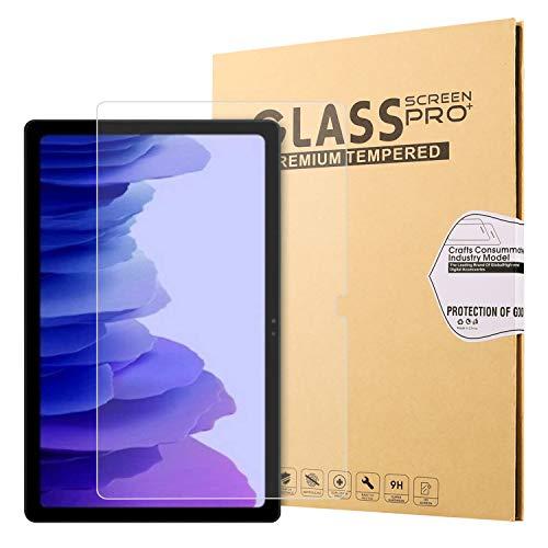 VOVIPO - Protector de pantalla para Samsung Galaxy Tab A7 10.4, dureza 9H, 2,5D, borde redondo, cristal templado, protector de pantalla para Samsung SM-T500, SM-T505, SM-T507