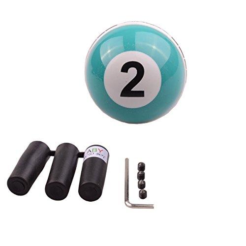 ABY Universal Auto Schaltknauf Snooker Billiards 2 Ball Kugel Schaltknüppel Shifter Knob für Most Manuelles oder automatisches Getriebe Ohne RGA