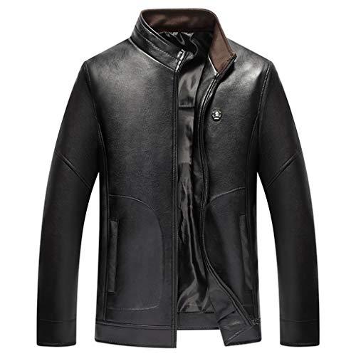 Mens Leather Jacket heren motorjas Casual Brown mantel Blazer Affari dimagriserende lederen coating zwart motorfiets top waterdicht