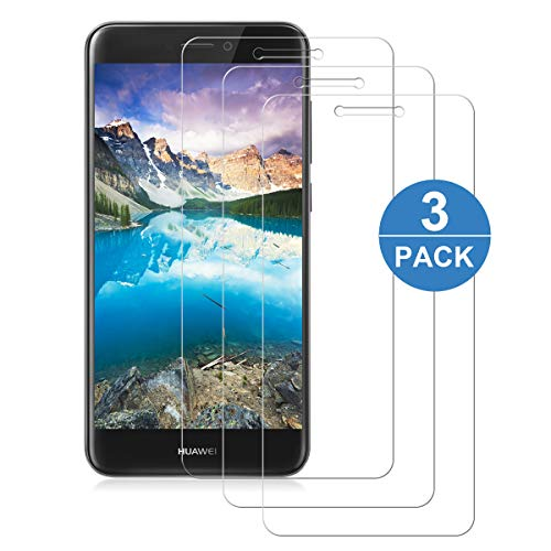 NONZERS – Protectores de pantalla compatibles con Huawei P8 Lite 2017, protector de pantalla de cristal templado, antiarañazos, anti aceite, antiburbujas de pantalla para Huawei P8 Lite 2017