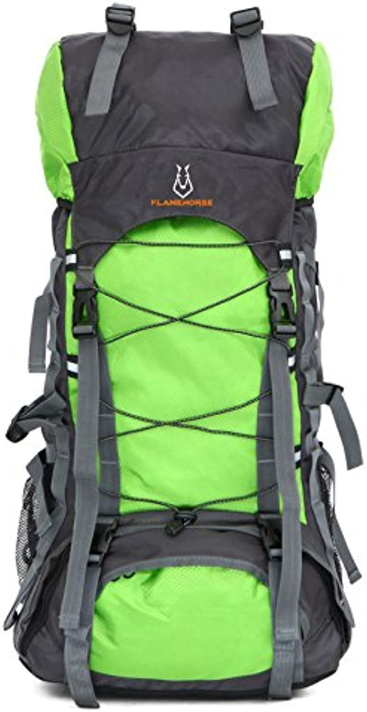 BAIYI 60L Nylon Oxford Waterproof Dry Bag Outdoor Travel Rucksack Männer Camping Bergsteigen WanderRucksäcke,F B07PRS39HL   Offizielle