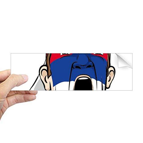 DIYthinker Servië Vlag Gezichtsmasker Screaming Cap Rechthoek Bumper Sticker Notebook Window Decal