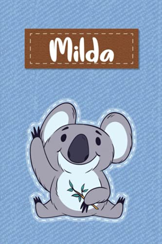 Milda: Lined Writing Notebook for Milda With Cute Koala, 120
