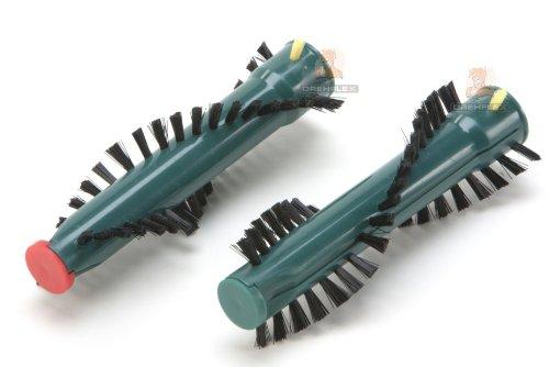 DREHFLEX - ZVW125-1 - 1 coppia di spazzole rotonde rulli di spazzola rulli di ricambio per Vorwerk EB 360 EB360 Spazzola elettrica