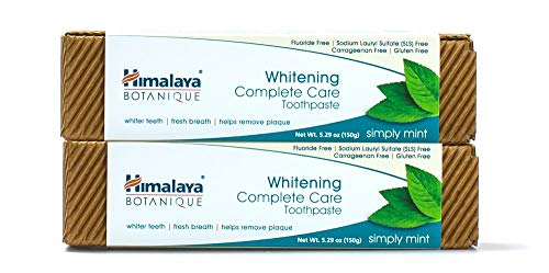 Himalaya Botanique Complete Care Whitening Toothpaste, Simply Mint, for a Clean Mouth, Whiter Teeth and Fresh Breath, 5.29 oz, 2 Pack