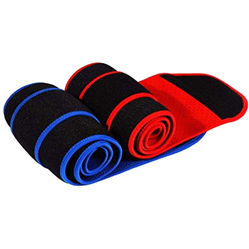 QWSA Rückenstützgürtel, Atmungsaktive Lordosenstütze Für Männer Und Frauen Neopren-Taillentrimmergürtel Unisex Unterstützung des Unteren Rückens Fitness Belt(2Er Pack),M