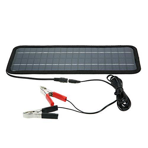 Decdeal Carregador portátil do carregador de bateria do barco do carro do poder do painel solar de 12V 4.5W exterior