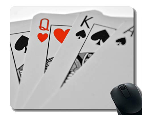 Beste Geschenkidee Mauspad, Nahaufnahme Poker Solitaire Rubber Mousepad Genähte Ränder