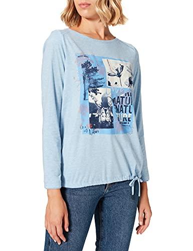 Cecil Damen 316940 T-Shirt, Light Blue Melange, L