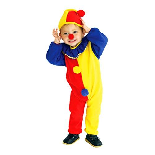 BESTOYARD Kids Clown Kostuum pak met lange mouwen Jumpsuit voor Cosplay Kerst Prestaties