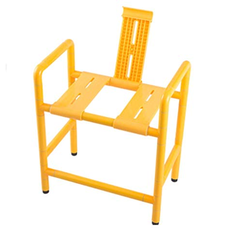Household Necessities/stoel voor seniorenstoel, badkamer, toiletkruk, dubbele stoel, kan worden omgedraaid Geel