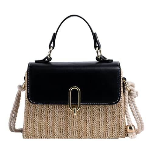 Rattan Bags for Women - Handmade Wicker Woven Purse Handbag Circle Boho Bag...