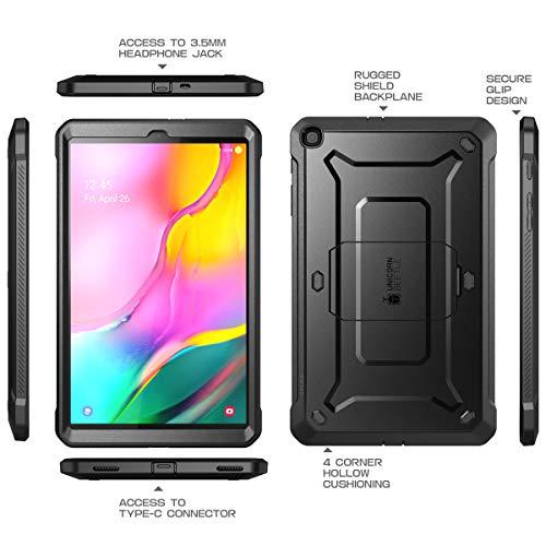 SUPCASE Hülle für Samsung Galaxy Tab A 10.1 2019 Schutzhülle 360 Grad Case Robust Cover [Unicorn Beetle Pro] mit Integriertem Displayschutz und Ständer (Schwarz)