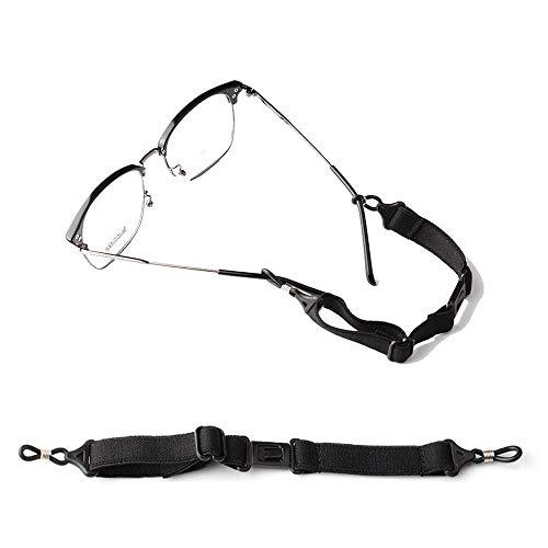 メガネ小物 眼鏡ストラップ メガネ ストラップ メガネやサングラスをつけて作業や運動をされる方に最適のスポーツメガネバンド スポーツバンド ずれないメガネバンド 男女兼用 (黒)