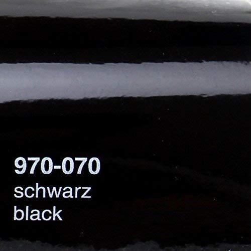 17,76€/m² Oracal 970RA 070 Schwarz Glanz gegossene Profi Autofolie 152cm breit BLASENFREI mit Luftkanäle
