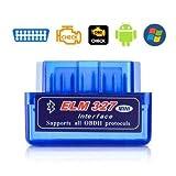 KitsGuru Android Portable Bluetooth Torque VGate ELM327 v2.1 Mini ELM 327 OBDII OBD-II